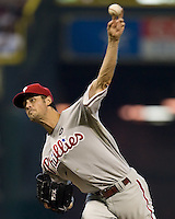 Hamels, Cole 5674.jpg Philadelphia Phillies at Houston Astros. Major League Baseball. September 6th, 2009 at Minute Maid Park in Houston, Texas. Photo by Andrew Woolley.