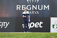 Justin Rose (ENG) prepares to tee off the 18th tee at the end of Sunday's Final Round of the 2018 Turkish Airlines Open hosted by Regnum Carya Golf &amp; Spa Resort, Antalya, Turkey. 4th November 2018.<br /> Picture: Eoin Clarke | Golffile<br /> <br /> <br /> All photos usage must carry mandatory copyright credit (&copy; Golffile | Eoin Clarke)