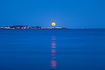 Moonrise over Nahant, Massachusetts, USA