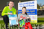 Ballyheigue 10k road race and also a 5k run and charity walk on Sunday 19th of April in aid of Kerry head/Ballyheigue family resource centre.Launching this fundraiser are Seamus Falvey and Laura Dineen