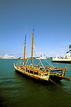 Hawaii: Honolulu, Hokulea, historic voyaging canoe. Photo: hiorig101 .Photo copyright Lee Foster, www.fostertravel.com, 510/549-2202, lee@fostertravel.com