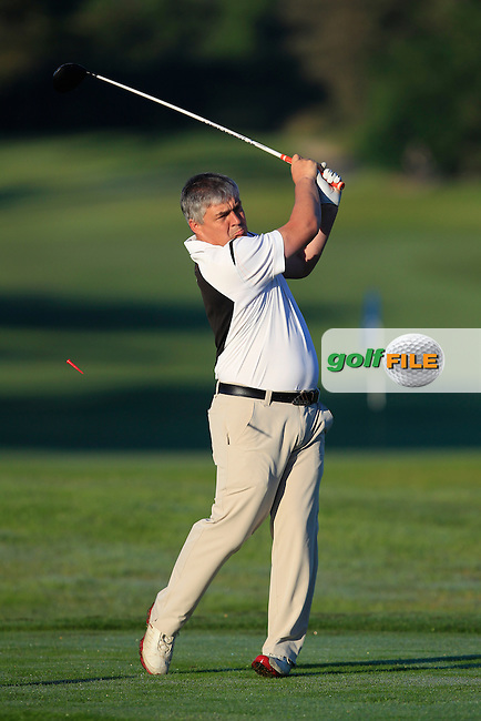 John Reynolds (Dungarvan) on the 1st tee during Round 1of the AIG Irish Amateur Close Championship at Tramore Golf Club on Tuesday 18th August 2015.<br /> Picture:  Thos Caffrey / www.golffile.ie