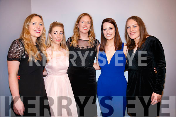 Mary Dunne, Karen Murphy, Mairead Dunne, Carmel O Leary, Patricia Dunne at the Kenmare Mart Social at the Kenmare Bay hotel on Saturday night.