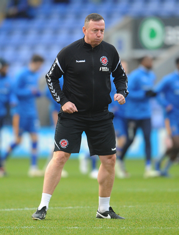 Fleetwood Town First Team Coach Steve Eyre during the pre-match warm-up <br /> <br /> Photographer Kevin Barnes/CameraSport<br /> <br /> The EFL Sky Bet League One - Shrewsbury Town v Fleetwood Town - Tuesday 1st January 2019 - New Meadow - Shrewsbury<br /> <br /> World Copyright © 2019 CameraSport. All rights reserved. 43 Linden Ave. Countesthorpe. Leicester. England. LE8 5PG - Tel: +44 (0) 116 277 4147 - admin@camerasport.com - www.camerasport.com