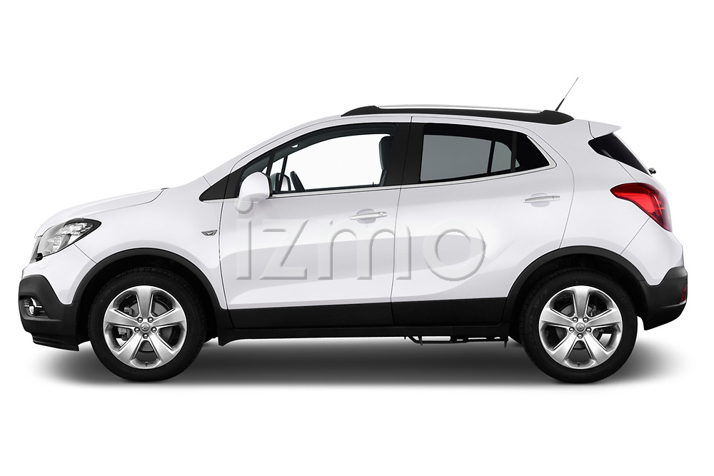 Driver side profile view of a 2013 Opel Mokka Cosmo SUV2013 Opel Mokka Cosmo SUV