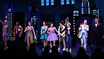 "Angie Schworer, Michael Potts, Beth Leavel, Isabelle McCalla, Caitlin Kinnunen, Brooks Ashmanskas and Christopher Sieber during the Broadway Opening Night Curtain Call of ""The Prom"" at The Longacre Theatre on November 15, 2018 in New York City."