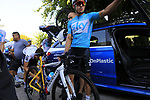 Gergio Luis Henao (COL) Team Sky gets ready for a morning training ride before Stage 1 of the La Vuelta 2018, an individual time trial of 8km running around Malaga city centre. Mijas, Spain. 23rd August 2018.<br /> Picture: Eoin Clarke | Cyclefile<br /> <br /> <br /> All photos usage must carry mandatory copyright credit (&copy; Cyclefile | Eoin Clarke)