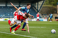 Fleetwood Town's Wes Burns competing with Wycombe Wanderers' Dominic Gape <br /> <br /> Photographer Andrew Kearns/CameraSport<br /> <br /> The EFL Sky Bet League One - Wycombe Wanderers v Fleetwood Town - Saturday 4th May 2019 - Adams Park - Wycombe<br /> <br /> World Copyright © 2019 CameraSport. All rights reserved. 43 Linden Ave. Countesthorpe. Leicester. England. LE8 5PG - Tel: +44 (0) 116 277 4147 - admin@camerasport.com - www.camerasport.com