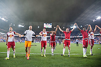 HARRISON, NJ - Saturday, August 8, 2015: The New York Red Bulls defeat Toronto FC 3-0 at home at Red Bull Arena in regular season MLS play.