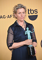 Frances McDormand at the 2015 Screen Actors Guild  Awards at the Shrine Auditorium.<br /> January 25, 2015  Los Angeles, CA<br /> Picture: Paul Smith / Featureflash