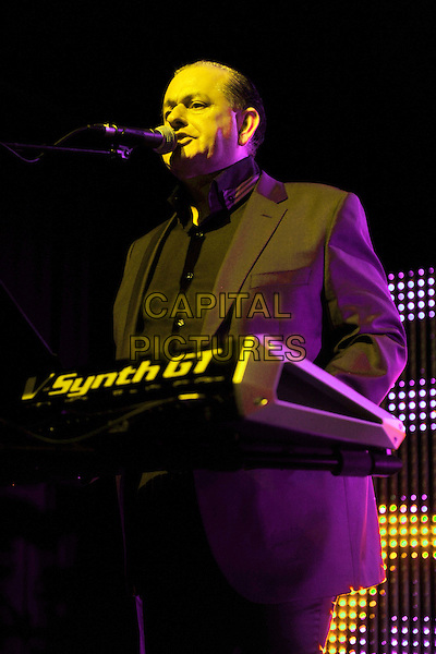 HEAVEN 17- Martyn Ware .Heaven 17 performs on stage at HMV Forum, London, England. .November 28th, 2010.stage concert live gig performance music half length black suit  singing keyboards .CAP/MAR.© Martin Harris/Capital Pictures.