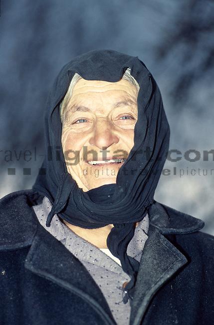 Griechische Frau, alte Frau, old woman, Greek woman, Portrait, Cyprus, Zypern