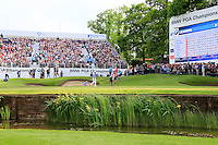 Danny Willet (ENG) on the 18th during round 3 of the 2016 BMW PGA Championship. Wentworth Golf Club, Virginia Water, Surrey, UK. 28/05/2016.<br /> Picture Fran Caffrey / Golffile.ie<br /> <br /> All photo usage must carry mandatory copyright credit (© Golffile   Fran Caffrey)