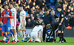 Sheffield United's Chris Basham receives medial attention during the Premier League match at Selhurst Park, London. Picture date: 1st February 2020. Picture credit should read: Paul Terry/Sportimage