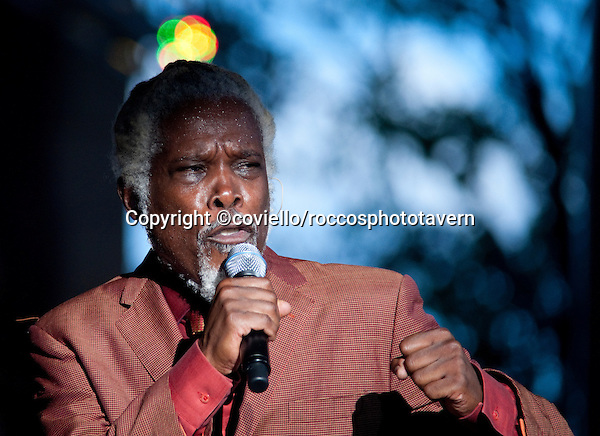 Billy Ocean performing at the America Gardens Theatre in Disney World, Orlando Florida.
