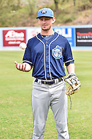 Asheville Tourists infielder Brendan Rodgers (1) poses for photo during media day at McCormick Field on April 6, 2016 in Asheville, North Carolina. (Tony Farlow/Four Seam Images)