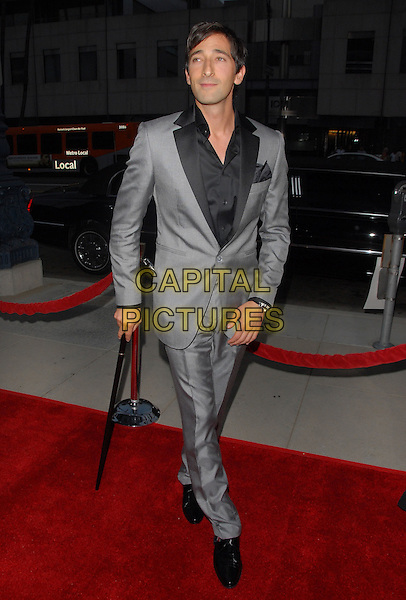 """ADRIEN BRODY.The """"Hollywoodland"""" Premiere held at The Academy of Arts and Science in Beverly Hills, California on .September 7th, 2006.Ref: DVS.full length grey gray suit.www.capitalpictures.com.sales@capitalpictures.com.©Debbie VanStory/Capital Pictures"""
