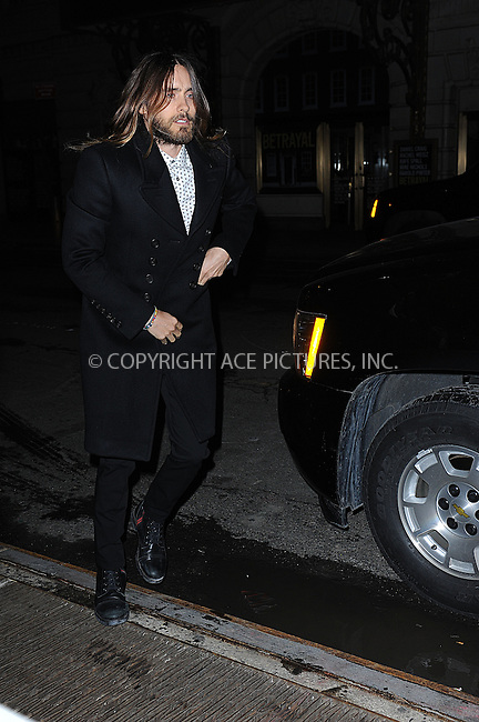 WWW.ACEPIXS.COM <br /> January 6, 2014 New York City<br /> <br /> Jared Leto attends the 2013 New York Film Critics Circle Awards Ceremony at The Edison Ballroom on January 6, 2014 in New York City. <br /> <br /> <br /> Please byline: Kristin Callahan  <br /> <br /> ACEPIXS.COM<br /> Ace Pictures, Inc<br /> tel: (212) 243 8787 or (646) 769 0430<br /> e-mail: info@acepixs.com<br /> web: http://www.acepixs.com