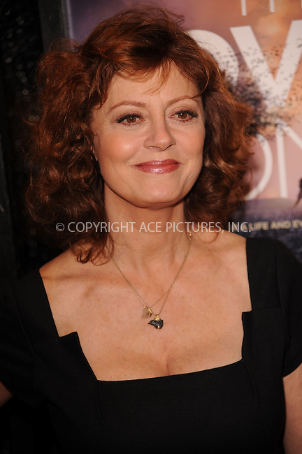 WWW.ACEPIXS.COM . . . . . ....December 2 2009, New York City....Actress Susan Sarandon arriving at the 'The Lovely Bones' premiere at the Paris Theatre on December 2, 2009 in New York City.....Please byline: KRISTIN CALLAHAN - ACEPIXS.COM.. . . . . . ..Ace Pictures, Inc:  ..(212) 243-8787 or (646) 679 0430..e-mail: picturedesk@acepixs.com..web: http://www.acepixs.com