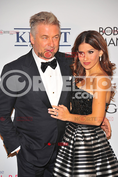 NEW YOKR, NY - NOVEMBER 7: Alec Baldwin and Hilaria Baldwin at The Elton John AIDS Foundation's Annual Fall Gala at the Cathedral of St. John the Divine on November 7, 2017 in New York City. Credit:John Palmer/MediaPunch /NortePhoto.com