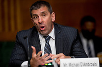 United States Secret Service Assistant Director Michael D'Ambrosio speaks during a US Senate Judiciary Committee hearing on Capitol Hill in Washington, Tuesday, June 9, 2020, to examine COVID-19 fraud, focusing on law enforcement's response to those exploiting the pandemic. <br /> Credit: Andrew Harnik / Pool via CNP/AdMedia