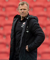 Saracens' Head Coach Mark McCall<br /> <br /> Photographer Bob Bradford/CameraSport<br /> <br /> Gallagher Premiership - Bristol Bears v Saracens - Saturday 13th April 2019 - Ashton Gate - Bristol<br /> <br /> World Copyright © 2019 CameraSport. All rights reserved. 43 Linden Ave. Countesthorpe. Leicester. England. LE8 5PG - Tel: +44 (0) 116 277 4147 - admin@camerasport.com - www.camerasport.com