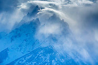 Jagged peaks, stormy day, Grand Teton National Park, Jackson Hole, Wyoming<br />