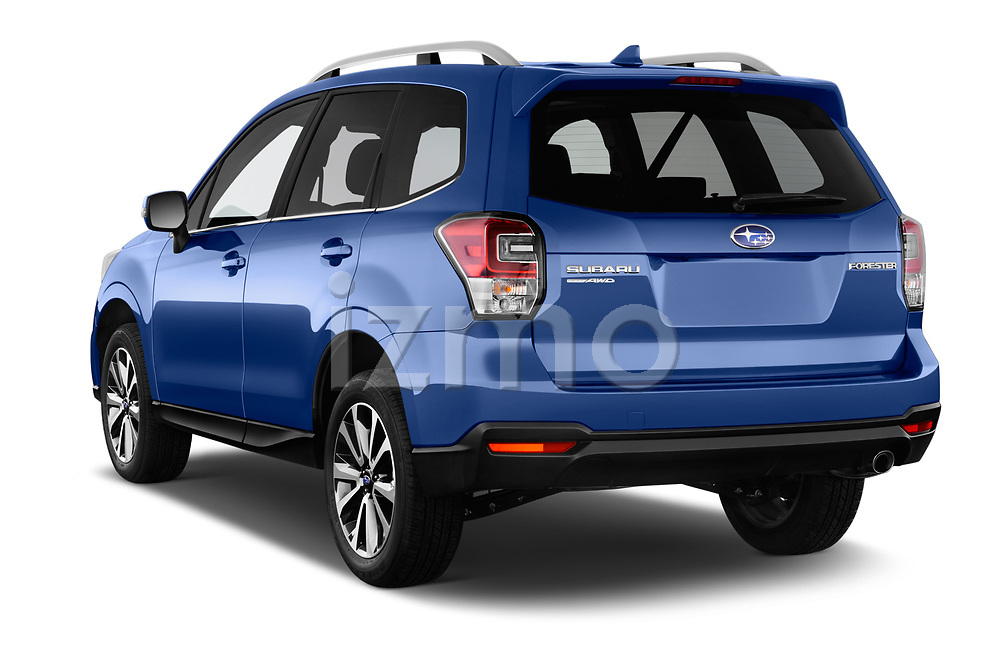 Car pictures of rear three quarter view of a 2017 Subaru Forester Premium 5 Door SUV angular rear