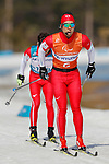 (L-R) Kazuto Takamura, Yughei Fujita (JPN), <br /> MARCH 14, 2018 - Cross-Country Skiing : <br /> Men's Sprint 1.5 km Visually Impaired Qualification<br /> at Alpensia Biathlon Centre   <br /> during the PyeongChang 2018 Paralympics Winter Games in Pyeongchang, South Korea. <br /> (Photo by Yusuke Nakanishi/AFLO SPORT)