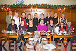 Pictured at Leens Hotel on friday night celebrating there christmas party were Back row L-R : Ron and Brenda and Geraldine  Ward of Abbeyfeale, Marion O'Connor of Athea, Phidelma Cross, Marion O'Connell and Finton Quirk of Abbeyfeale. Peg Fitzgerald of Brosna, Mairead Daly of Abbeyfeale. Front Row L-R : Nora Gaire and Mauira Ahern of Abbeyfeale, Kathleen O'Connor (President of Abbeyfeale Bridge club) and Kitty Healy of Brosna, Mary  Moloney and Madeline Murphy of Abbeyfeale, Maureen keating of Brosna. All of Abbeyfeale Bridge Club.