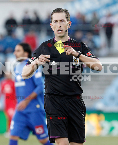 Spanish referee Gonzalez Gonzalez  during La Liga match.December 01,2012. (ALTERPHOTOS/Acero) ©/NortePhoto