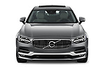 Car photography straight front view of a 2018 Volvo S90 T6 Inscription 4 Door Sedan