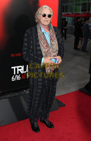Rutger Hauer<br /> &quot;True Blood&quot; Season 6 Los Angeles Premiere held at The Cinerama Dome, Hollywood, California, USA.<br /> June 11th, 2013<br /> full length suit check iphone camera sunglasses shades red print scarf paisley blue shirt black<br /> CAP/ADM/RE<br /> &copy;Russ Elliot/AdMedia/Capital Pictures