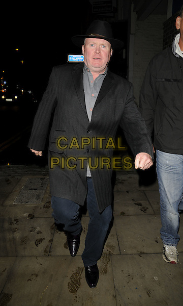 "STEVE McFADDEN.The ""Night of East End Stars"" fundraising performance, Rose Theatre, Kingston Upon Thames, London, England..October 5th, 2008.full length black suit hat blue trousers.CAP/CAN.©Can Nguyen/Capital Pictures."