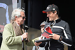 Defending Champion Greg Van Avermaet (BEL) BMC Racing Team at the team presentation before the 116th edition of Paris-Roubaix 2018. 7th April 2018.<br /> Picture: ASO/Pauline Ballet | Cyclefile<br /> <br /> <br /> All photos usage must carry mandatory copyright credit (&copy; Cyclefile | ASO/Pauline Ballet)