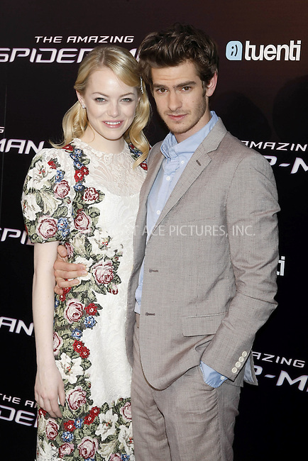 WWW.ACEPIXS.COM . . . . .  ..... . . . . US SALES ONLY . . . . .....June 21 2012, Madrid....Emma Stone and Andrew Garfield at the Madrid premiere of 'The Amazing Spiderman' on June 21 2012 in Madrid.....Please byline: FAMOUS-ACE PICTURES... . . . .  ....Ace Pictures, Inc:  ..Tel: (212) 243-8787..e-mail: info@acepixs.com..web: http://www.acepixs.com