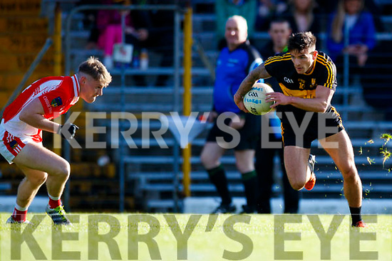 Micheál Burns Dr Crokes in action against  West Kerry in the Kerry Senior Football Championship Semi Final at Fitzgerald Stadium on Saturday.