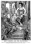 """King Cophetua and the Beggar-maid. The King (Mr Asquith). """"'This beggar-maid shall be my queen' - that is, if there's a general feeling in the country to that effect."""""""