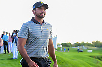 Jason Day (AUS) departs 18 during round 2 Four-Ball of the 2017 President's Cup, Liberty National Golf Club, Jersey City, New Jersey, USA. 9/29/2017.<br /> Picture: Golffile | Ken Murray<br /> <br /> All photo usage must carry mandatory copyright credit (&copy; Golffile | Ken Murray)