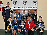 Players from The Ardee Celtic Under 9 Blue with their medals at the Ardee Celtic annual awards night in Ardee parish centre. Photo:Colin Bell/pressphotos.ie