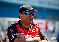 Mar 18, 2017; Gainesville , FL, USA; NHRA funny car driver Cruz Pedregon during qualifying for the Gatornationals at Gainesville Raceway. Mandatory Credit: Mark J. Rebilas-USA TODAY Sports