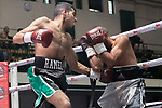 Ramez Mahmood vs Stefan Sashov 4x3 - Featherweight Contest During Goodwin Boxing - Date With Destiny. Photo by: Simon Downing.<br /> <br /> Saturday September 23rd 2017 - York Hall, Bethnal Green, London, United Kingdom.