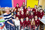 Mary Frances O'Shea got a fond farewell from her pupils on her retirement day from Muire Gan Smal, Castleisland on Wednesday