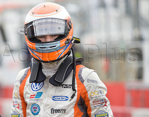 18.05.2012 Brands Hatch, England. Formula 3 Euro Series, Harry Tincknell in pit lane during Friday's FP1.