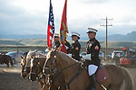 Marine Corps Color Guard during the Cody Stampede event in Cody, WY - 7.3.2019 Photo by Christopher Thompson