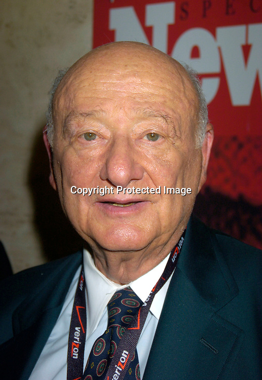 Ed Koch..at the Newsweek Party for the Republican Convention ..on August 30, 2004 at The Four Season Restaurant...Photo by Robin Platzer, Twin Images