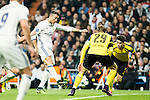 Real Madrid's Cristiano Ronaldo, Borussia Dortmund Marcel Shmeizer  during Champions League match between Real Madrid and Borussia Dortmund  at Santiago Bernabeu Stadium in Madrid , Spain. December 07, 2016. (ALTERPHOTOS/Rodrigo Jimenez)