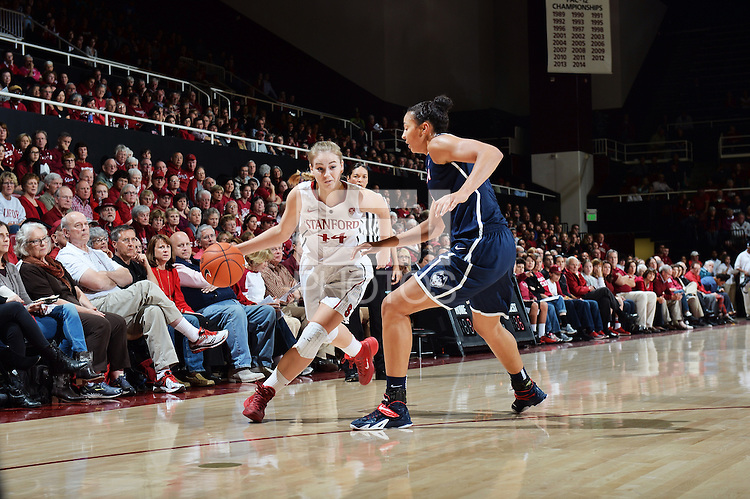 Stanford, CA - November 17, 2014:  Stanford Cardinal vs. Connecticut Huskies at Maples Pavilion.  The Cardinal defeated the Huskies in overtime, 88-86.