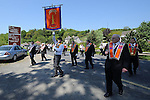 An Orange Order march enters the site of the battle of the Boyne in 1690 at Oldbridge. Photo: Colin Bell/pressphotos.ie