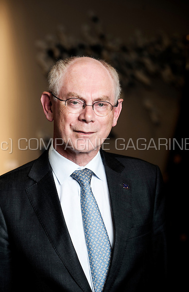 Herman Van Rompuy, Belgian politician who formerly served as Prime Minister of Belgium and then as the first President of the European Council (Belgium, 02/09/2014)